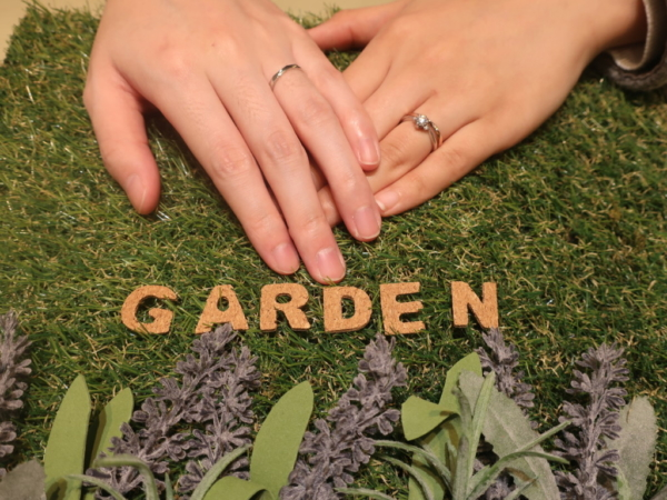 gardenオリジナルの婚約指輪とAMOUR AMULETの結婚指輪 神奈川県川崎市/福井県鯖江市