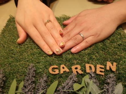 YUKAHOJOの婚約指輪と結婚指輪