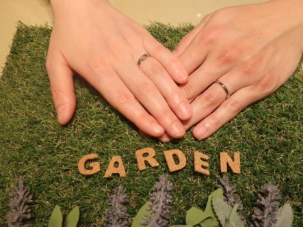 gardenオリジナルの婚約指輪とFISCHERの結婚指輪 大阪府八尾市