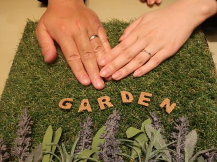 gardenオリジナルの婚約指輪とFISCHERの結婚指輪 兵庫県西宮市