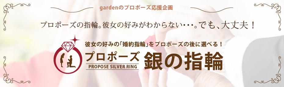 プロポーズプランで銀の指輪