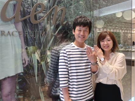 gardenオリジナルの婚約指輪とGRACEKAMAの結婚指輪 奈良県奈良市