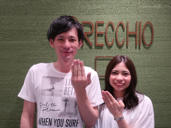 ORECCHIOの結婚指輪 大阪市堺区