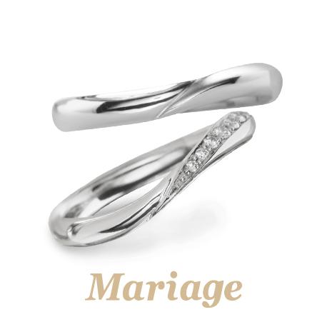 高品質ダイヤモンド結婚指輪マリアージュエント