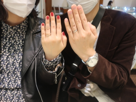 Une Mariageの結婚指輪 大阪府堺市