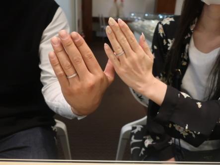 YUKA HOJOの結婚指輪 滋賀県大津市