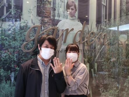 GRACE KAMAの婚約指輪とFISCHERの結婚指輪 東京都大田区
