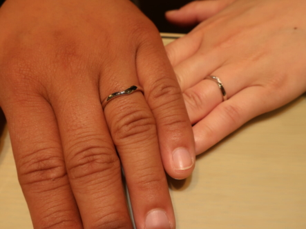 Pink Dolphin Diamondの結婚指輪 大阪市西区
