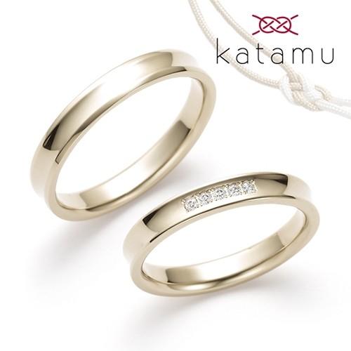 鍛造製法の結婚指輪Katamu